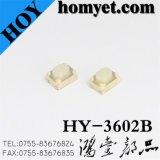 Commutateur électronique en gros de tact avec la base blanche de long traitement rond de base (HY-3602L)