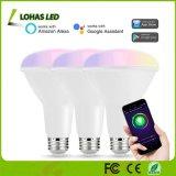 10W Br30 E26 Lâmpadas LED inteligente lâmpada LED WiFi multicolorido controlada pela APP