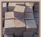 Камень Kerb вымощая камня туманных желтых кубиков Китая каменный
