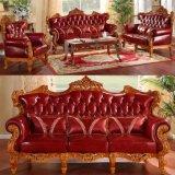 أثر قديم جلد أريكة مع طاولة مركزية لأنّ أثاث لازم بينيّة ([502ا])