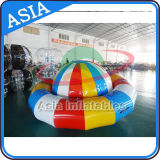 Barco de flutuação inflável do disco de Saturno da água inflável do barco do UFO do vôo