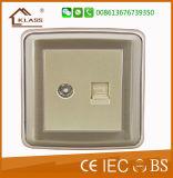 soquete do interruptor do grupo de 15A 250V um multi com néon