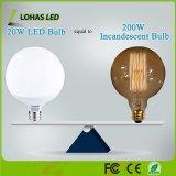 Lohas 20W E26 E27 B22 LED blanco cálido luces Globo 2700K Non-Dimmable Lámpara Globo decorativo