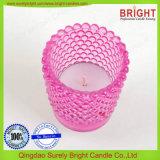 El material de vidrio de la copa de cristal Portavelas candelitas
