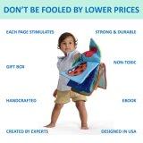 Weiches Buch-Spielzeug-Baby-Gewebe-Aktivitäts-Windung-Tuch-handgemachtes pädagogisches