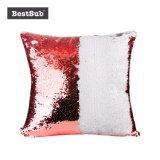 Sublimación Blank Flip Sequin almohada cubierta con la impresión fotográfica personalizada (w de color rojo/blanco) (BZLP4040R-W)