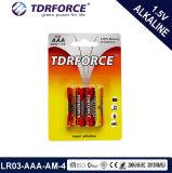 batterie alkaline de la pile 1.5V (LR03-AM-4) sèche avec BSCI pour le jouet