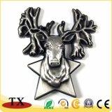 Aimant de la meilleure qualité de réfrigérateur de forme de cerfs communs des cadeaux 3D de souvenir animal de zoo