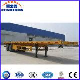 40FT 3 plat de l'essieu lit plate-forme semi-remorque de camion ou semi-remorque