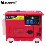 Monophasé de générateur diesel simple refroidi à l'air de cylindre (DG5500SE)