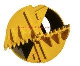 Compartimiento del taladro de la plataforma de perforación con los dientes del punto negro para el rock duro