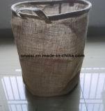 Dobrar roupa suja cesto de armazenamento e saco de silo com pegas