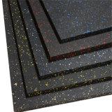 Crossfit Azulejos do piso de borracha, tapetes de borracha para ginásio