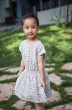 Vestido 100% floral do algodão para meninas
