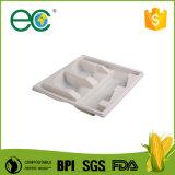 """"""" la fécule de maïs 9 remplaçable Bio-A basé la plaque de compartiment en plastique pour le restaurant"""