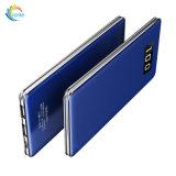Design de luxo liga de alumínio Ultra Slim 10000mAh banco de potência da bateria portátil
