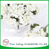 De hete Hoofden van de Kunstbloem van de Zijde van de Hydrangea hortensia van het Ontwerp van de Verkoop Nieuwe Kunstmatige Witte Grote voor het Wieden van Decoratie