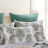 綿プリント寝具はBlue&Green (DO6056)でセットした