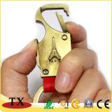 Porte-clés portable pratique Keyring chien crochet avec cuir synthétique