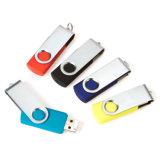 Movimentação 128MB 1GB do flash do USB do giro com a caixa do metal para presentes relativos à promoção baratos