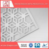 Peinture métallisée aluminium découpées au laser Panneaux perforés Partition/ salle/ Bi-Folding Écrans de diviseur