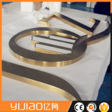 Miroir de signalisation des lettres en acier inoxydable