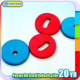 ISO18092 PPS NTAG213 RFID NFC 세탁물 꼬리표 동전 꼬리표