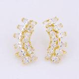 特別なデザイン女性のイヤリングの水晶18K金のイヤリング
