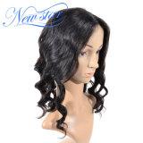 Оптовая торговля регулируется человеческого волоса в полной мере кружева Wig