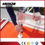 Этап высоты регулируемый алюминиевый передвижной складывая