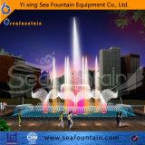 D'éclairage LED de la musique de danse fontaine en marbre