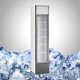 Congelador de vidro do gelado da porta