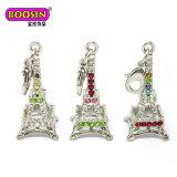 Fascino Pendant di cristallo dei monili della Torre Eiffel d'argento di modo per la collana