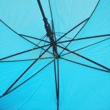 純粋で青いカラーPoe傘、使用される屋外のためのまっすぐな傘