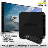 Contenitore superiore stabilito 2017 di casella astuta del Internet TV del Android 6.0 Rk3229 3D 4K IPTV Ott di Mxq 4K