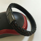 Form-Hand-Woven reales ledernes Seil-Armband (BL2846)
