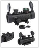 赤い戦術的なハンチング20mm柵1X30および緑の点の視力