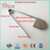 Bevestigingsmiddel 127mm van de wasserij de Glanzende JumboVeiligheidsspeld van het Roestvrij staal van de Kleur