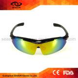 O costume possui óculos de sol de condução de funcionamento de ciclagem mutáveis destacáveis do braço de vidros de Sun do esporte do tipo