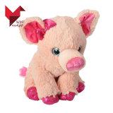 Brinquedo peludo macio cor-de-rosa do porco
