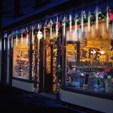 Het openlucht Koord steekt Regen van de Zonne de Aangedreven LEIDENE Douche van de Meteoor aansteekt aan het Dalende Licht van de Regendruppel voor het Decor van de Partij van het Huwelijk van de Tuin van Kerstmis