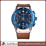 Кожаный Wristwatch моды, водонепроницаемый, смотреть из нержавеющей стали