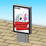 Mobiliario urbano al aire libre Caja de luz Mupi Publicidad