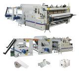 Maxi y pequeño rollo de papel higiénico que hace la máquina Línea de producción
