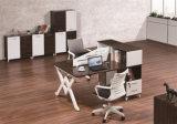 Moderne Verdeling 2 van het Vernisje van het Werk van de Melamine het Werkstation van Zetels voor Bureau