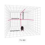 Пересекая 360 линия красный вращая уровень степени 2 лазера
