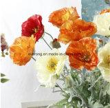 Künstliche Simulations-Blumen-Mohnblume-Blumen für Dekorum-künstliche Mohnblume-Girlande-künstliche rote Mohnblume-Blume