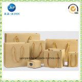Da bolsa cosmética da forma do papel de Brown do ofício sacos de papel (JP-PB020)