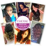 Yvonne Grosso Virgem ondas soltas brasileira de cabelo humano para as mulheres negras