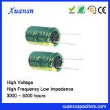 350V Lage Impedantie van de Condensator van het Aluminium 6.8UF de Elektrolytische